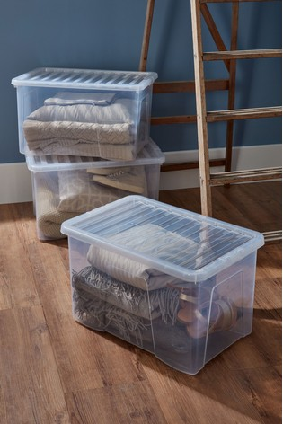 Set of 3 Crystal 60L Boxes by Wham