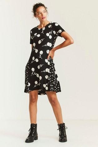 FatFace Black Simone Poppy Meadow Dress