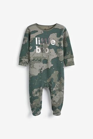 Camouflage Little Bro Sleepsuit (0mths-2yrs)