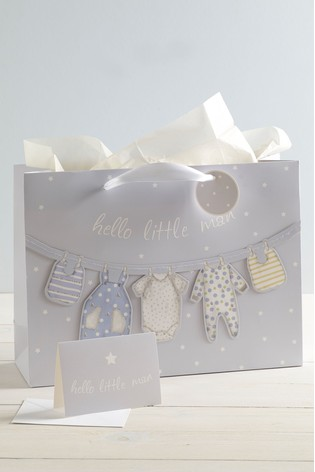 Baby Bag, Card And Tissue Set