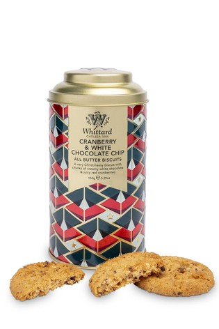 Whittard Of Chelsea All Butter Cranberry And White Chocolate Chip Biscuits