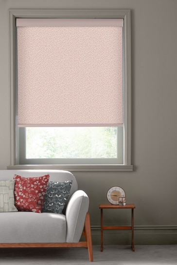 Chimes Pastel Pink Made To Measure Roller Blind by MissPrint