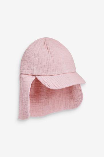 Pale Pink Cotton Legionnaire's Hat (3mths-6yrs)