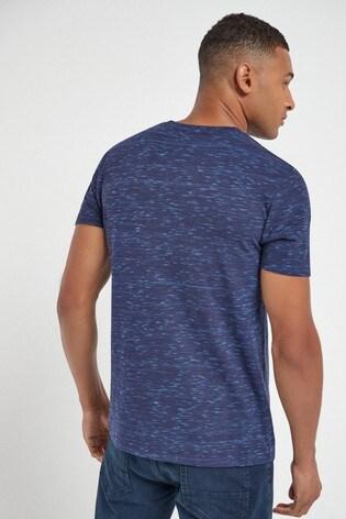Dark Blue Marl Regular Fit Stag T-Shirt
