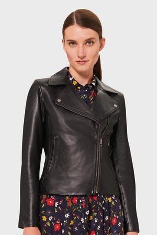 Hobbs Black Tania Leather Jacket