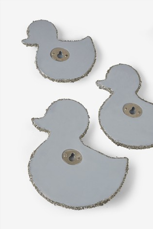 Set of 3 Sparkly Duck Plaques