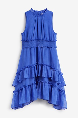 Blue Tiered Frill Maxi Dress (3-16yrs)