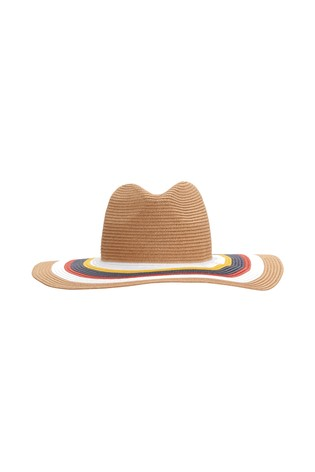 French Connection Natural Circle Straw Hat