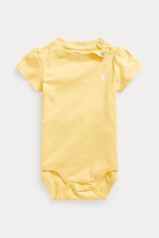 Ralph Lauren Yellow Logo Bodysuit