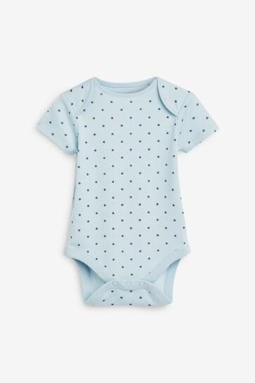 Blue Star Stripe 7 Pack Short Sleeve Bodysuits (0mths-3yrs)