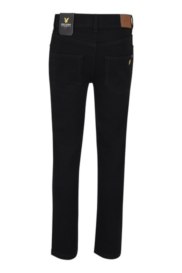 Lyle & Scott Boys Black Skinny Fit Classic Jeans