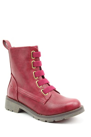 Heavenly Feet Purple Ladies Lace-Up Ankle Boots