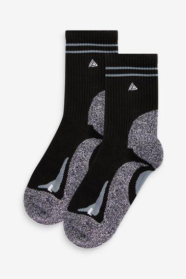 Black Running Ankle Socks 2 Pack