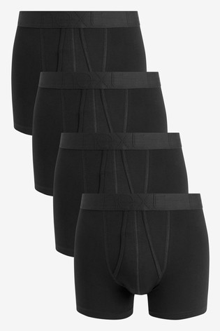 Black Organic Cotton A-Fronts Four Pack