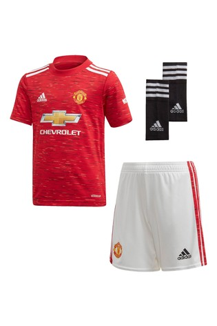 adidas Manchester United Home 20/21 Mini Kit