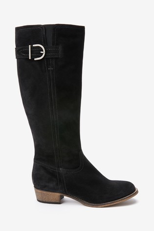 Black Forever Comfort® Casual Knee High Boots