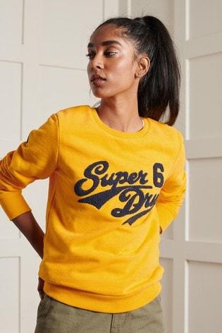 Superdry Limited Edition College Chenille Crew Sweatshirt