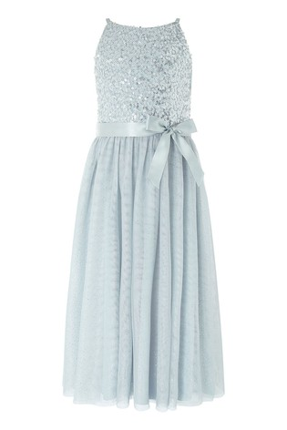 Monsoon Truth Grey Sequin Maxi Dress