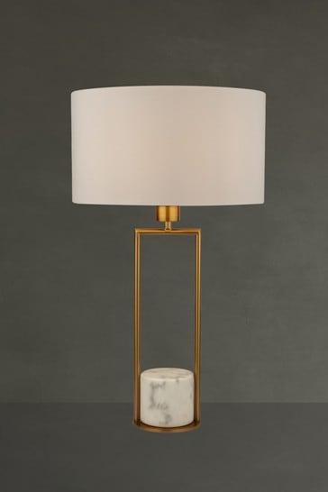 Searchlight Metal Elle Marble Base Table Lamp