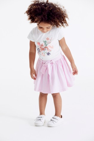 Pink Belted Skirt (3mths-7yrs)