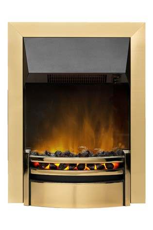 Dimplex 2kW Kansas brass Electric Optiflame Inset Fire