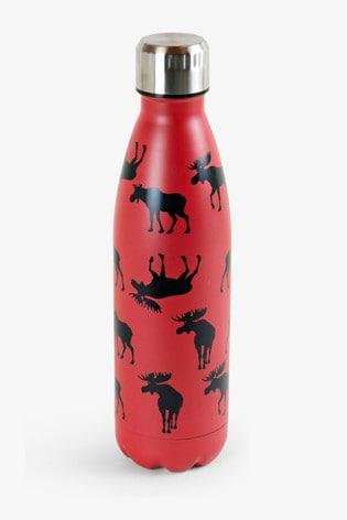 Hatley Red Moose On Red Travel Bottle