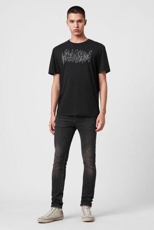 AllSaints Black Skinny Cigarette Jeans