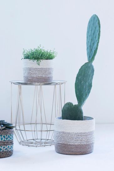Set of 3 Vika Seagrass Lined Baskets by Ivyline