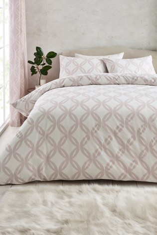 2 Pack Reversible Luxe Geo Duvet Cover And Pillowcase Set