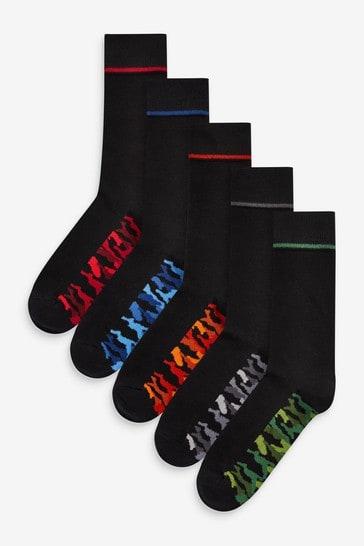 Camo Footbed Socks 5 Pack