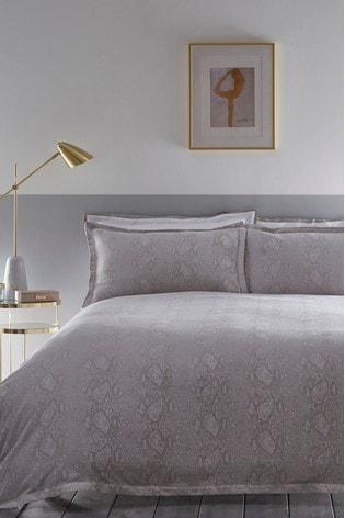 Karen Millen Snakeskin Cotton Duvet Cover and Pillowcase Set