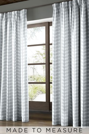 Scribble Stem Grey Made To Measure Curtains by Orla Kiely