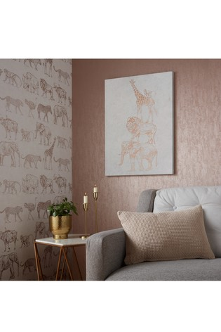 Safari Animals Canvas by Art For The Home
