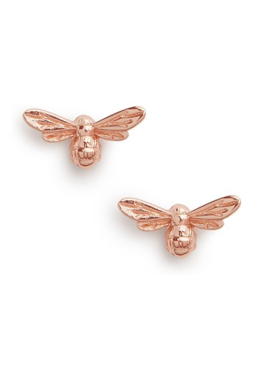 Olivia Burton Rose Gold Lucky Bee Stud Earrings