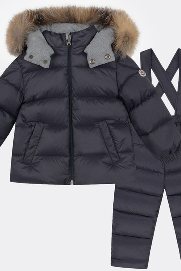 Baby Navy New Mauger Down Padded Snowsuit