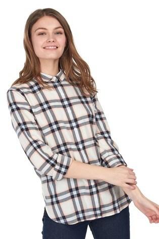 Barbour® Coastal Cream Check Shoreline Relaxed Fit Shirt