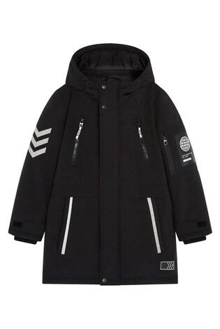 F&F Black Black Parka Coat