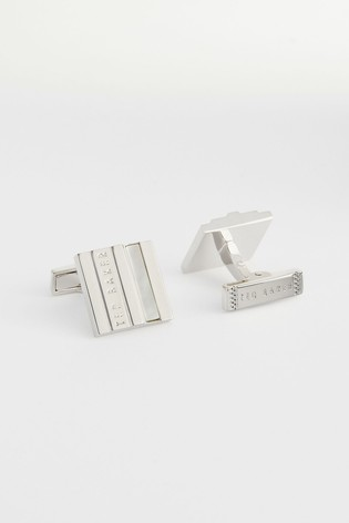 Ted Baker Pamel Stepped Mother Of Pearl Cufflinks