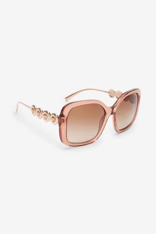 Versace Transparent Brown Sunglasses