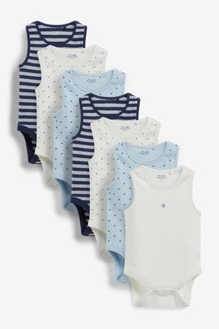 Blue Star 7 Pack Vest Bodysuits (0mths-3yrs)