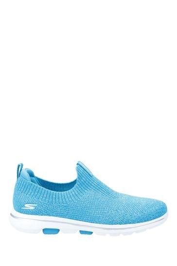 Skechers® Blue Gowalk 5 Trendy Slip-On Sports Trainers