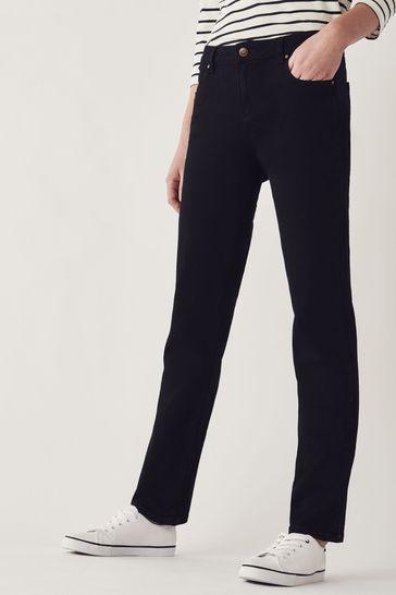 Crew Clothing Company Black Straight Jeans