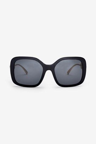 Versace Black Large Frame Sunglasses