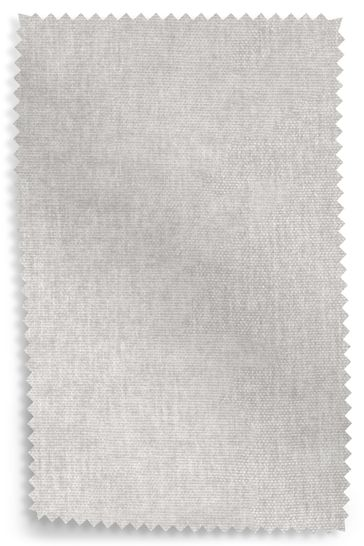 Fine Chenille Light Grey Fabric Sample