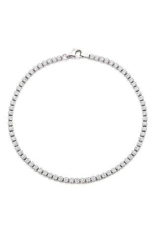 Beaverbrooks Silver Cubic Zirconia Tennis Bracelet