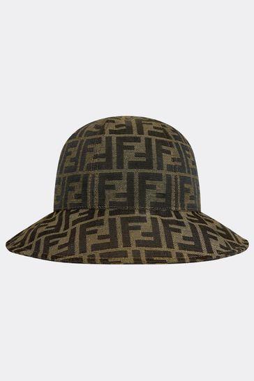 Kids Brown Cotton Hat
