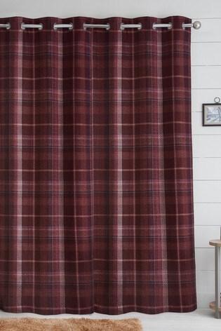 Dalton Check Eyelet Curtains