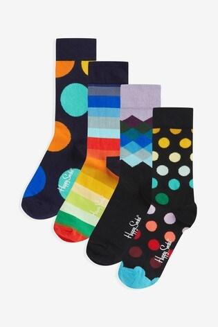 Happy Socks Women's Classic 4 Pack Gift Box