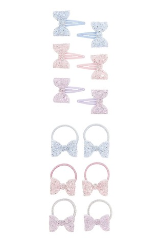 Monsoon Multi Frosted Bow Hair Set