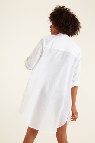 F&F White Beach Shirt